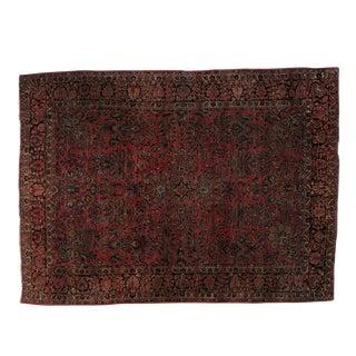 """Leon Banilivi Antique Persian Sarouk Carpet - 11'9"""" x 8'7"""""""