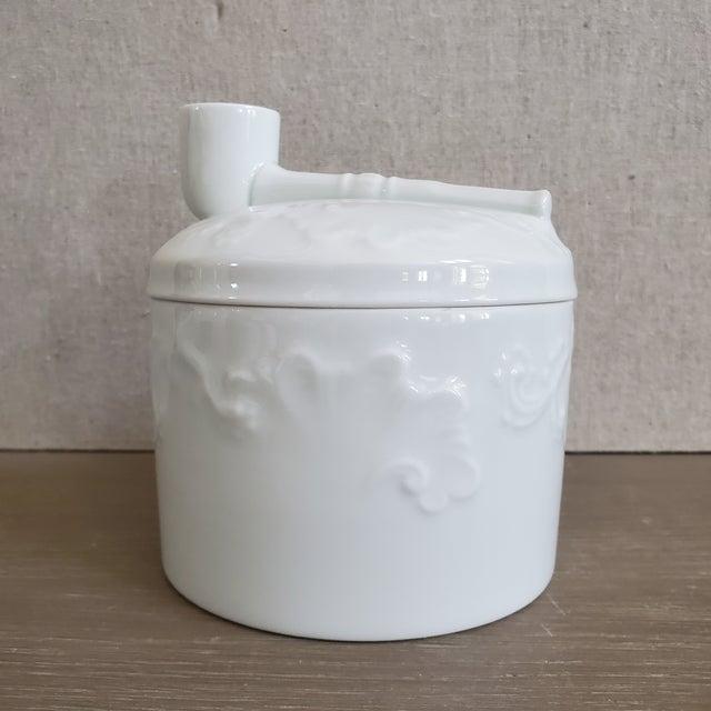 Ceramic Limoges French Porcelain Tobacco Jar For Sale - Image 7 of 11