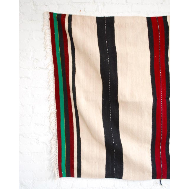 Moroccan Berber Stripe Throw For Sale - Image 4 of 5