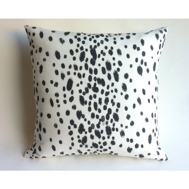 Les Touches Style Linen Charcoal Dotted Pillow/Cushion Cover - Image 2 of 5