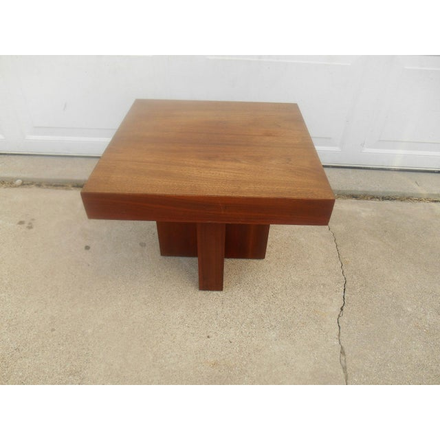 Mid-Century Danish Modern Walnut End Table - Image 2 of 6