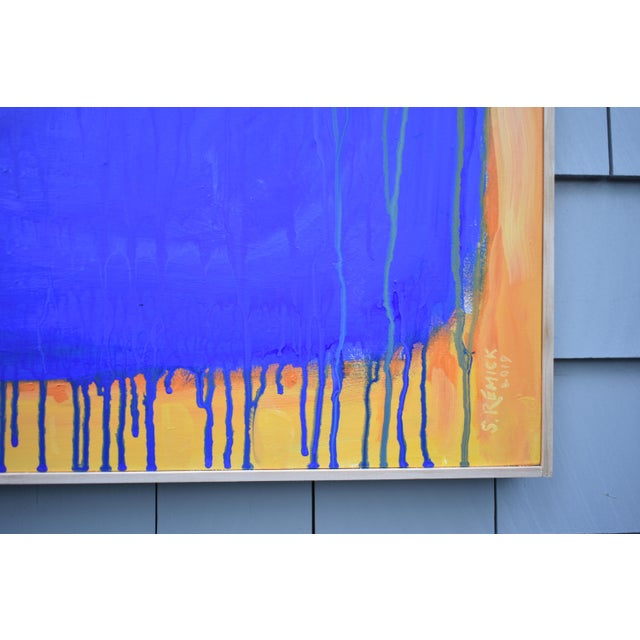 "Stephen Remick ""The Sun Came Up and It Was Blue and Gold"" Contemporary Abstract Painting by Stephen Remick For Sale - Image 4 of 11"