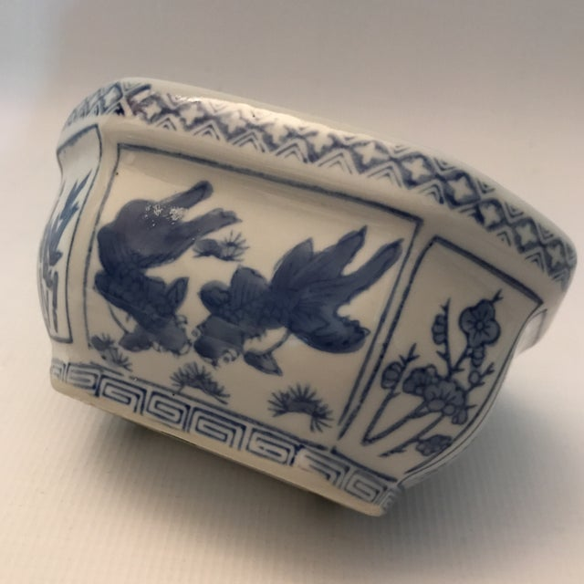 Chinese Blue & White Oval Porcelain Planter - Image 7 of 12