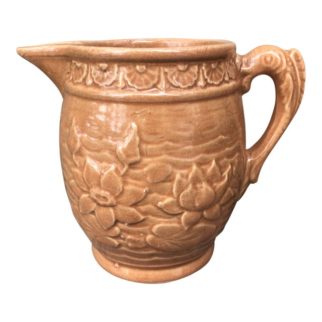 1930's Art Nouveau McCOY Stoneware Pottery Pitcher For Sale