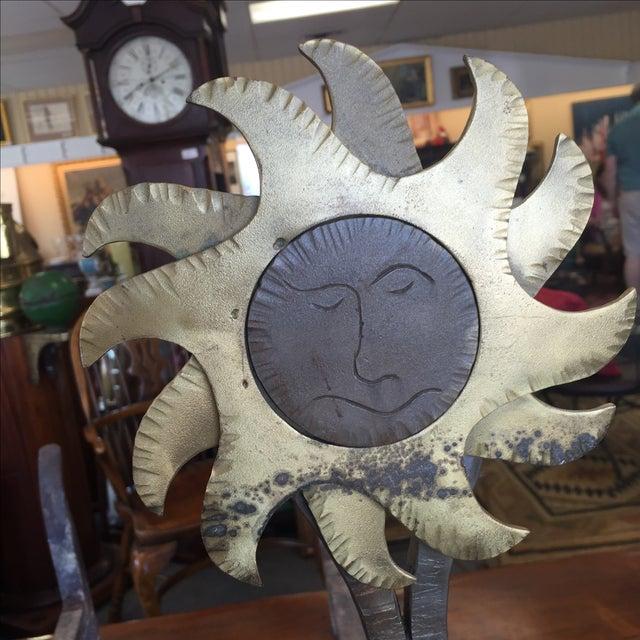 Sun and Moon Andirons - Image 4 of 6