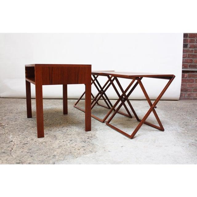 Nest of Three Teak Folding Tables by Illum Wikkelsø - Image 13 of 13
