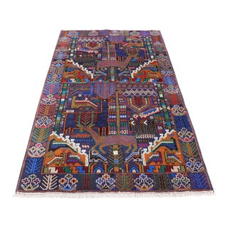 Afghan Tribal Pictorial Baluch Rug For Sale