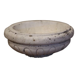 Mid-19th Century French Neoclassical Carved Stone Decorative Bowl For Sale