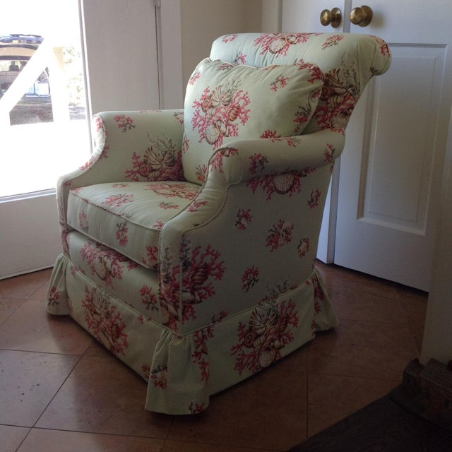 Scalamandre Chintz Upholstered Club Chair - Image 5 of 6