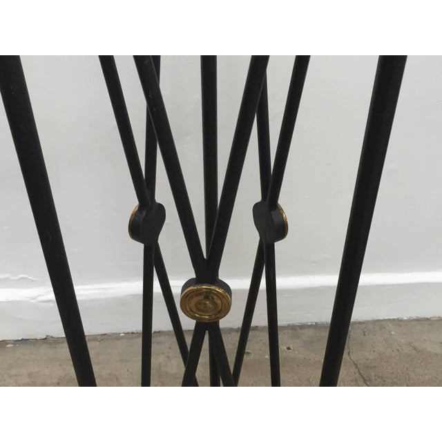 Neoclassical Style Pedestals Iron Stand With Lion Brass Heads & Paw Feet For Sale - Image 9 of 11