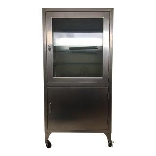 Vintage Stainless Steel Medical Cabinet