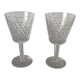 Waterford Crystal Wines (2) Matching Pair For Sale