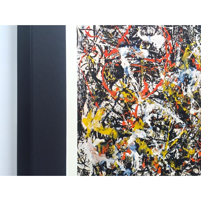 """Jackson Pollock Rare Vintage 1964 Mid Century Modern Framed Abstract Expressionist Lithograph Print """" Convergence """" 1952 For Sale In Kansas City - Image 6 of 13"""
