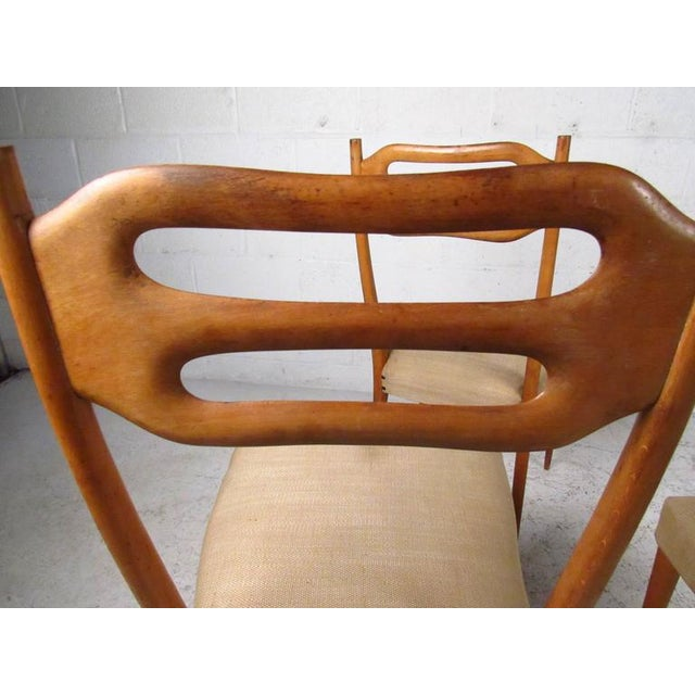 Tan Sculptural Italian Modern Dining Chairs - Set of 6 For Sale - Image 8 of 10