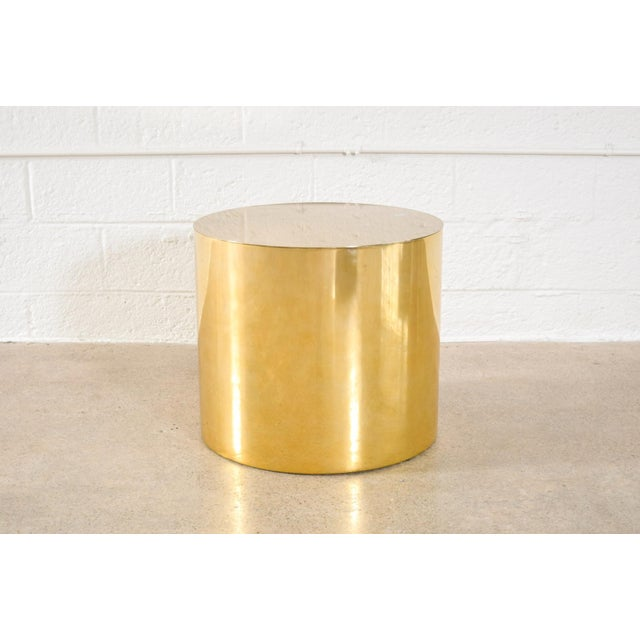 Vintage Mid Century Paul Mayen For Habitat And Architectural Supplements Cylinder Drum Side Table