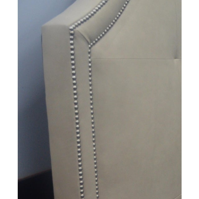 Stickley Leather Queen Headboard - Image 6 of 8