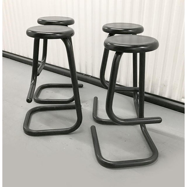 """1970s 1970s """"Paperclip"""" Bar Stools by Haworth for Kinetic For Sale - Image 5 of 10"""