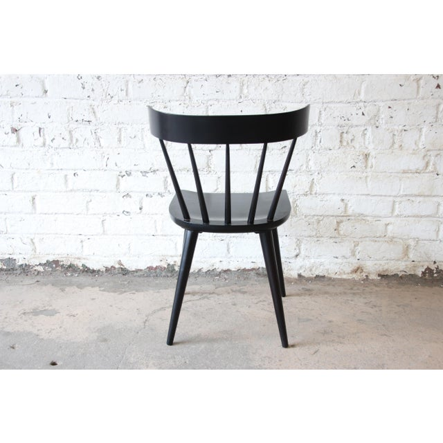 Set of Eight Paul McCobb Ebonized Planner Group Dining Chairs For Sale - Image 12 of 13