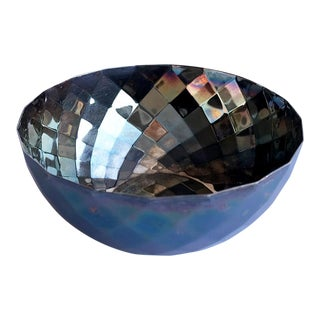 Calvin Klein Silver-Plated Faceted Bowl