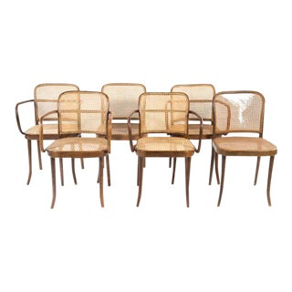 Josef Hoffman for Thonet Caned Bentwood Dining Chairs, Prague - Set of 6