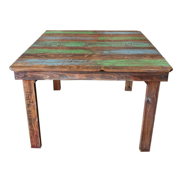 Rustic Dining Table With a Splash of Color - Image 1 of 3