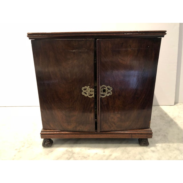 19th Century Mahogany Man's Jewelry Case For Sale - Image 10 of 10