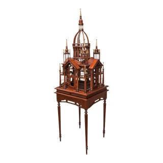 Maitland-Smith Monumental Vintage Bird Cage For Sale