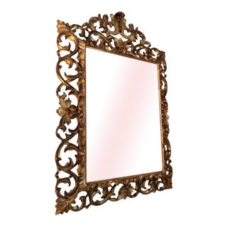 19th Century French Carved Gilt Wood Mirror For Sale