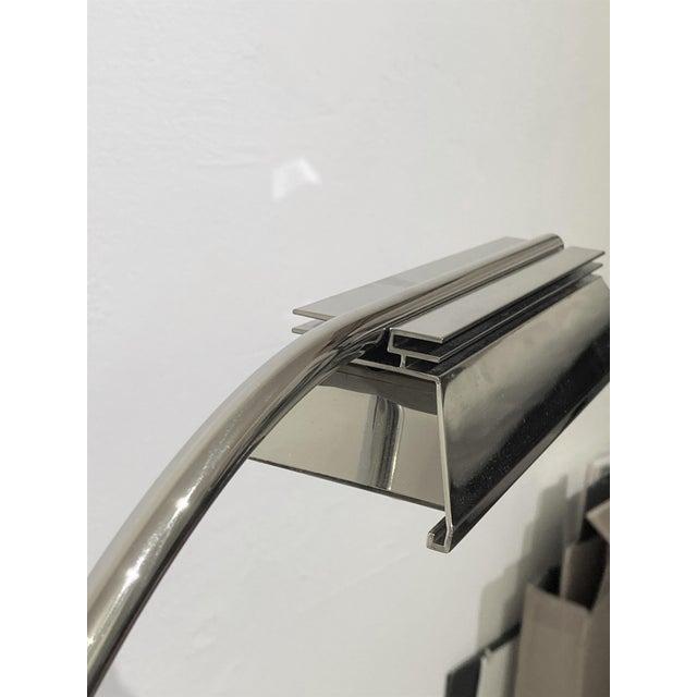 Metal Casella Floor Lamp Nickel Plated For Sale - Image 7 of 10