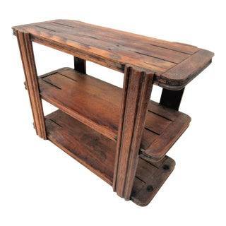 1950s Rustic Wooden 3 Tier Shelf For Sale