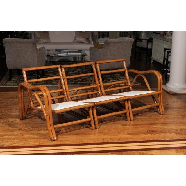 Fantastic Restored Vintage Modern Rattan Three-Seat Sofa For Sale In Atlanta - Image 6 of 8