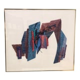 Image of Abstract Format Handmade Paper Collage by Sabra Richards For Sale