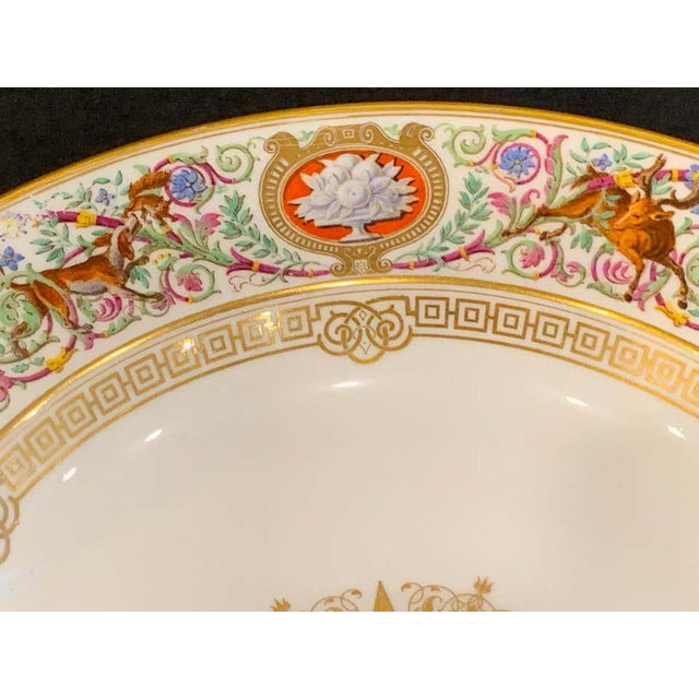 Gold Sevres Porcelain Ormolu Tazza, From the Hunting Service of King Louis Philippe For Sale - Image 8 of 12