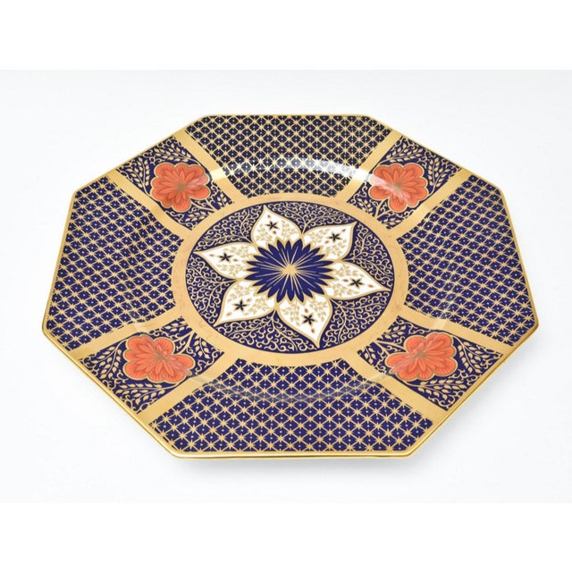 English Porcelain Imari Pattern Painted Tureen With Underplate For Sale - Image 10 of 11