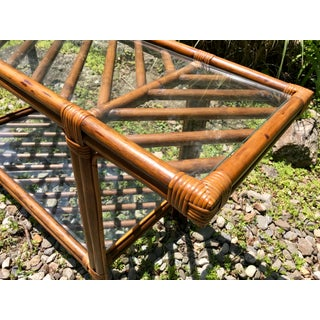 Mid Century Bar Cart Console Table Rattan Preview
