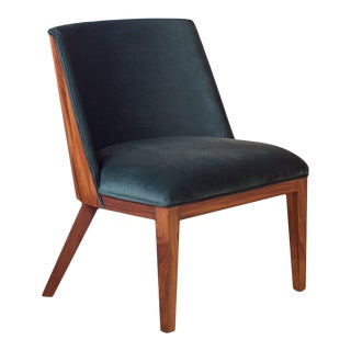 Ebb and Flow Nola Accent Chair in Emerald Velvet For Sale