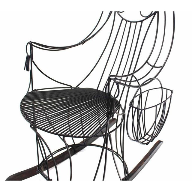 Early 20th Century John Risley Welded Wire Rocking Chair For Sale - Image 5 of 10