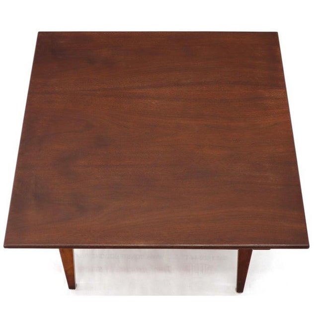 Jens Risom Square Occasional Coffee Side Table Oiled Walnut For Sale - Image 9 of 12