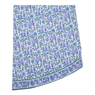Aria Round Tablecloth - Lavender & Blue For Sale