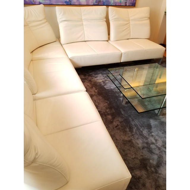 Contemporary De Sede White Leather L-Shaped Sectional For Sale - Image 3 of 11