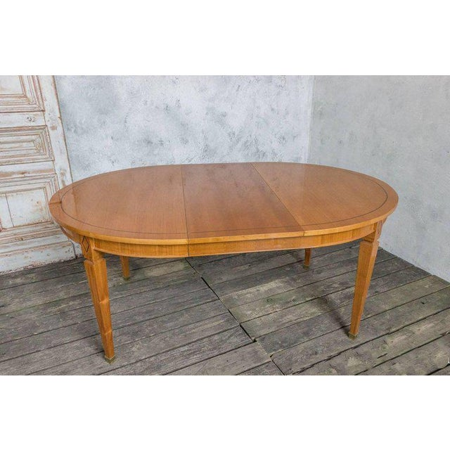 1940s French 1940s Oval Dining Table For Sale - Image 5 of 11