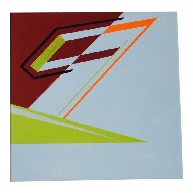 Abstract Geometric Acrylic Painting Hard Edge Style - Image 1 of 8