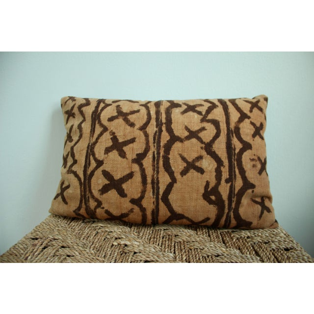 Vintage African Mudcloth Throw Pillows - Set of 3 - Image 3 of 5