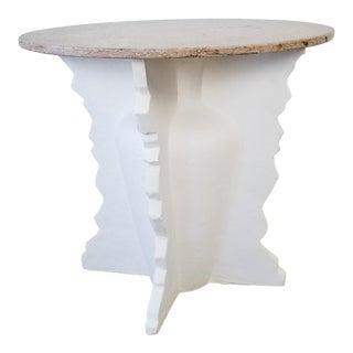 Vintage Sculptural Geometric Shape Decorative Dining Table For Sale