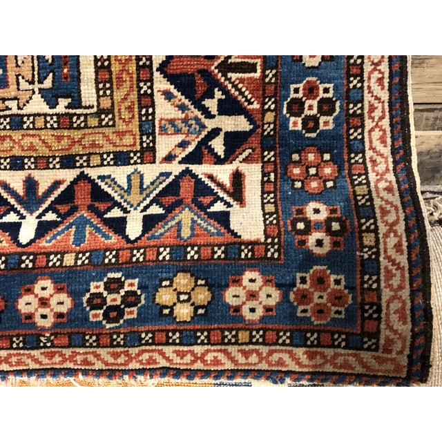 Beautifully preserved Persian Caucasian Kazak rug. Characteristically true of many Caucasian rugs, this piece features a...