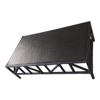 Modern Serena and Lily Trestle Coffee Table For Sale