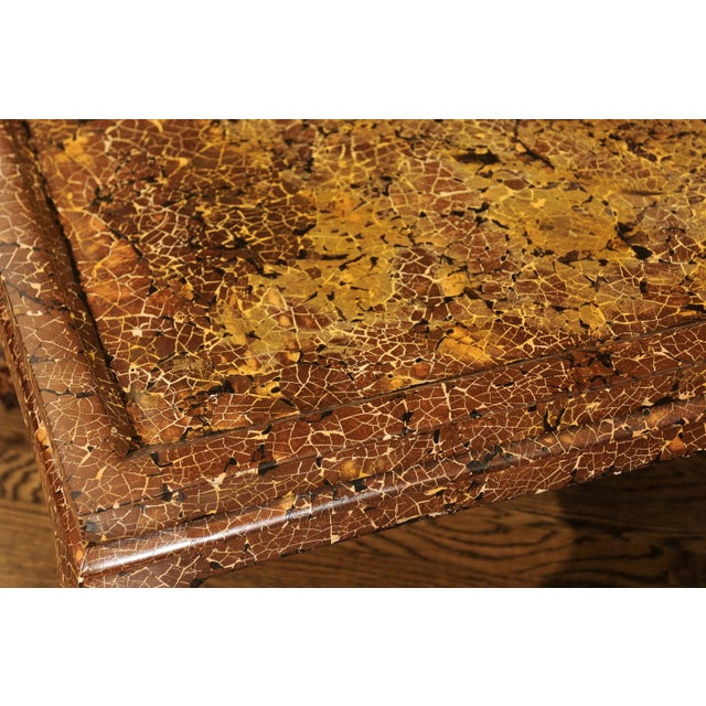 Exquisite Mosaic Lacquered Coffee Table in the Style of Enrique Garcel For Sale - Image 10 of 11