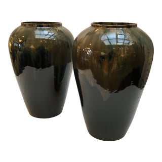 Asian Modern Chinese Porcelain Jars - a Pair For Sale