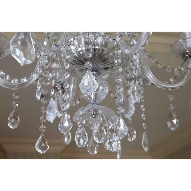 Salvaged Waldorf Six Glass Arms Crystal Chandelier For Sale - Image 4 of 7