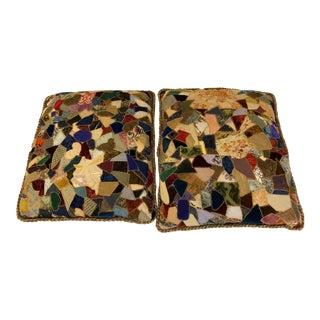 Antique Victorian Quilt Pillows - A Pair